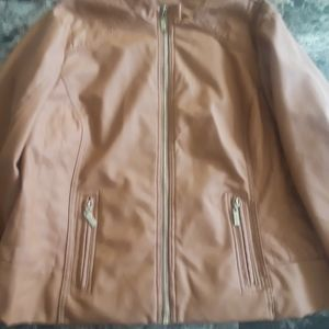New look camel colored faux leather jacket NWOT